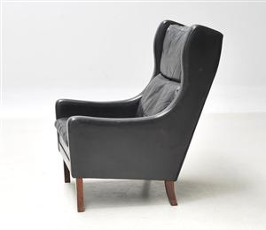 & Danish Leather Wingback chair