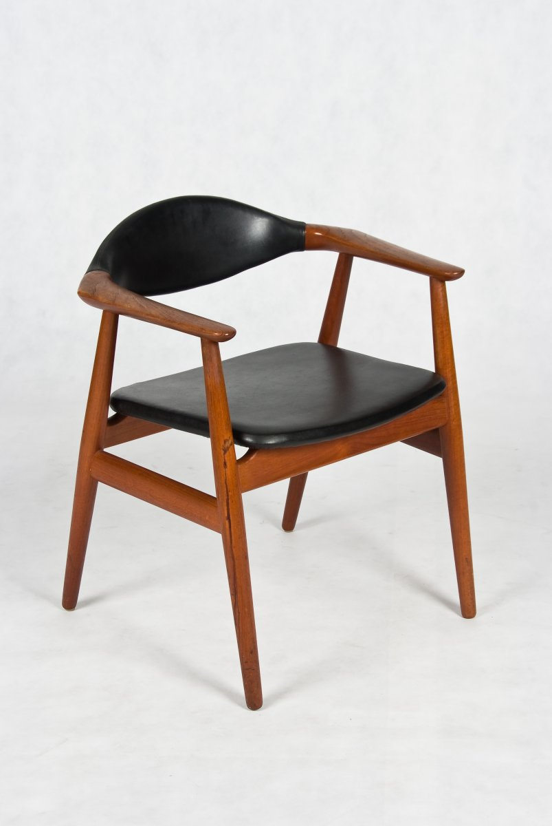 Danish Teak arm chair by Erik Kirkegaard.