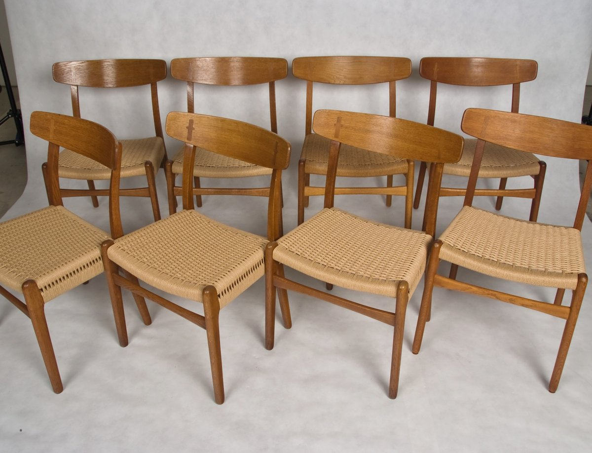 Hans wegner dining chairs model ch 23 made by carl hansen