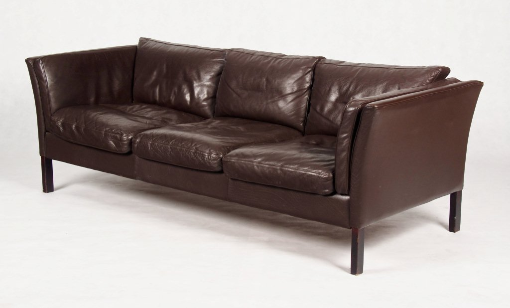 Danish Leather Sofa By Stouby