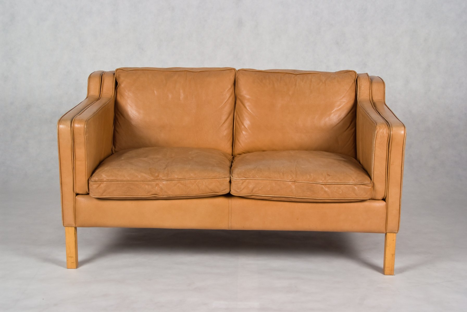 Stouby 2 seater leather sofa for 2 seater sofa