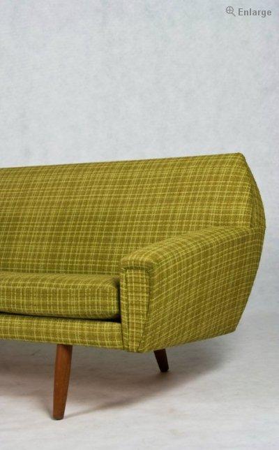 Danish Vintage 4 Seater Sofa Original Wool Upholstery