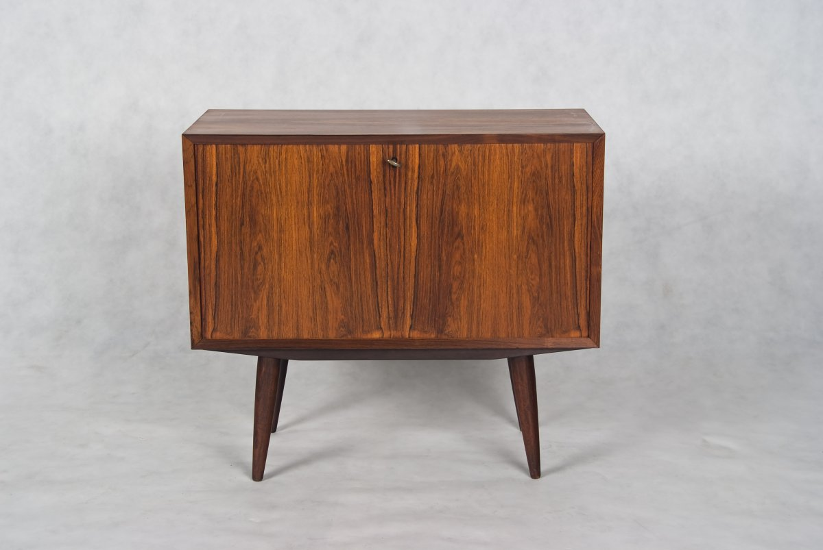 Danish Small Sideboard Cabinet In Brazilian Rosewood
