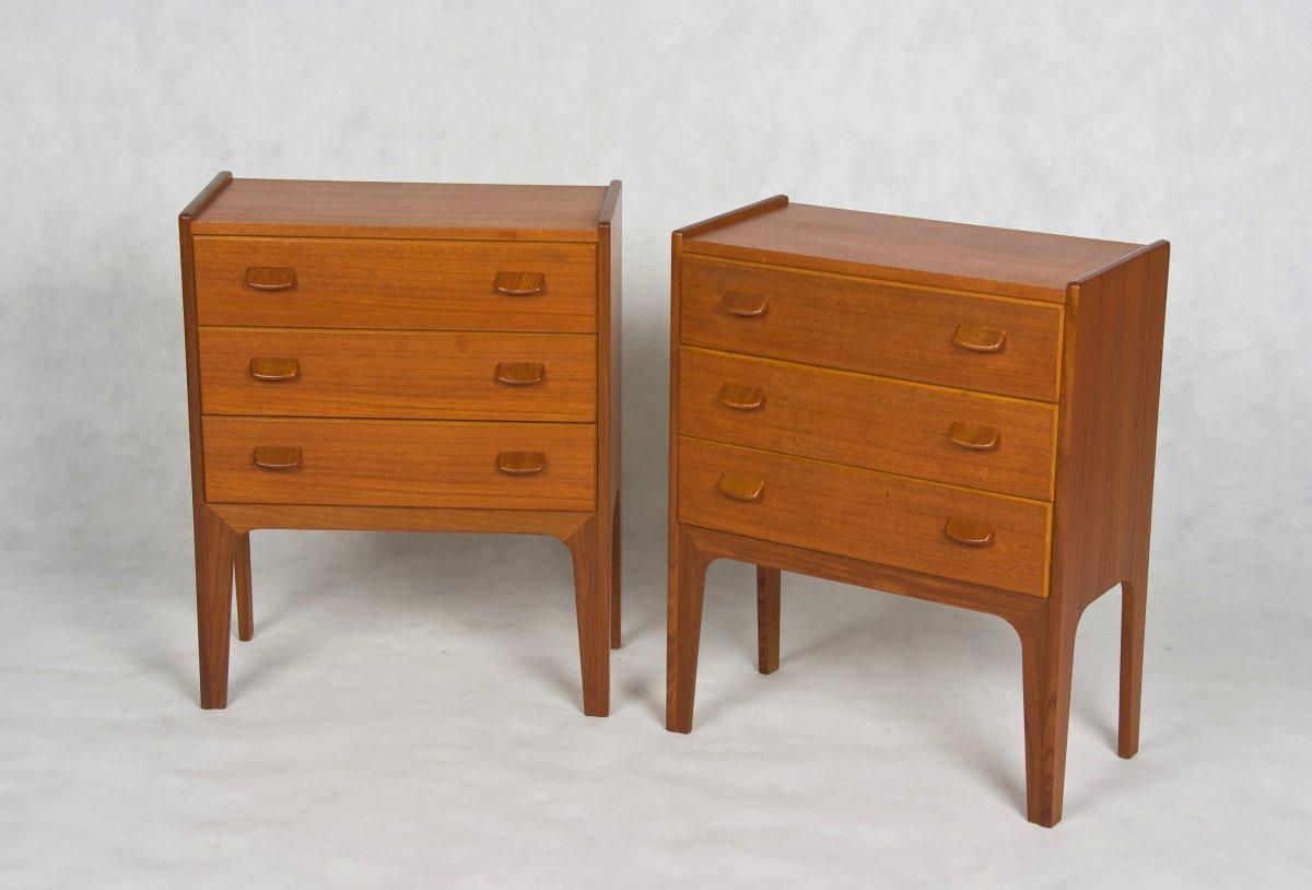 Danish Bedside tables - teak, 1960s