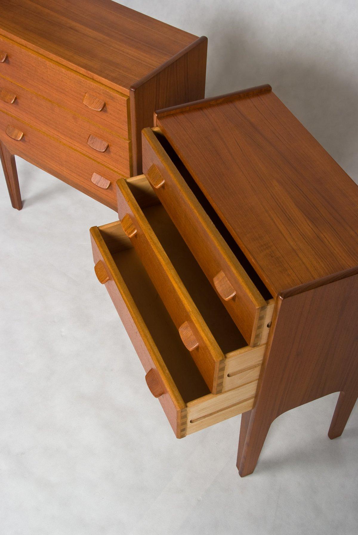 Danish Bedside Tables Teak 1960s